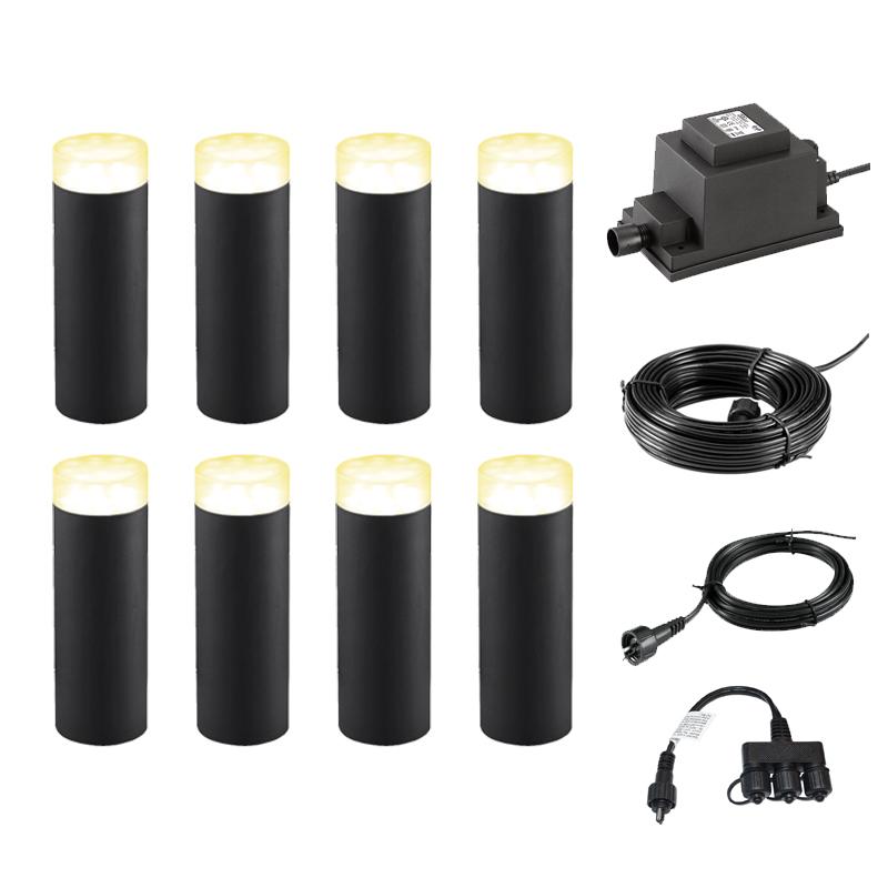 Techmar Plug and Play Linum LED Garden Light Kit 8 Lights
