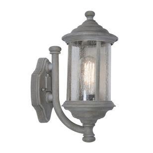 Dar Brompton Outdoor Lantern Wall Light - Grey