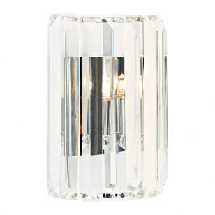 Dar Sketch Crystal Flush Light - Polished Chrome