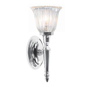 Elstead Dryden Fluted LED Wall Light - Polished Chrome