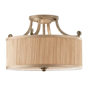 Feiss Abbey Semi-Flush Ceiling Light - Silver Sand
