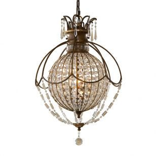 Feiss Bellini Crystal Chandelier - Bronze