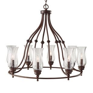 Feiss Pickering Lane 8 Light Chandelier - Bronze