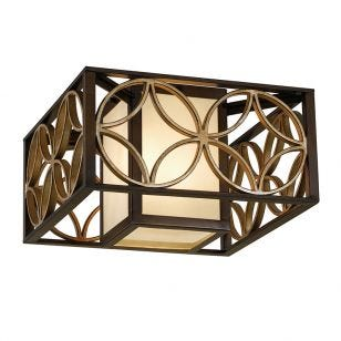 Feiss Remy Flush Ceiling Light - Bronze