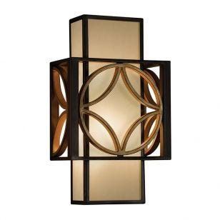 Feiss Remy Flush Wall Light - Bronze