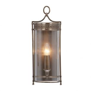 Elstead Guildhall Flush Wall Light - Dark Bronze