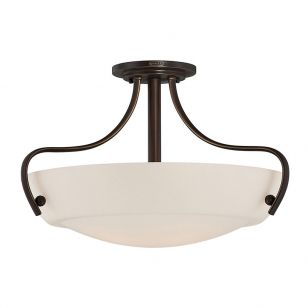 Elstead Chantilly Semi-Flush Ceiling Light - Palladian Bronze