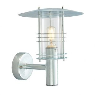 Norlys Stockholm Grande Outdoor Wall Light - Galvanised Steel