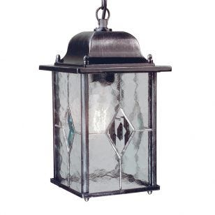 Elstead Wexford Pendant Porch Lantern - Black