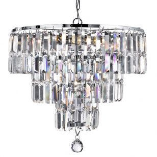 Searchlight Empire 5 Light Ceiling Pendant Light - Chrome