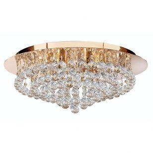 Searchlight Hanna 8 Light Flush Light - Gold