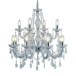 Searchlight Marie Therese 12 Light Chandelier - Chrome