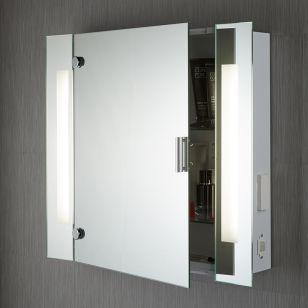 Searchlight LED Illuminated Bathroom Mirror Cabinet