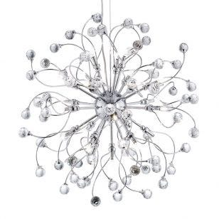 Searchlight Sonja 24 Light Ceiling Pendant Light - Chrome