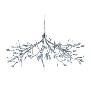 Searchlight Willow 10 Light Ceiling Pendant Light - Chrome