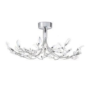 Searchlight Wisteria Semi-Flush Ceiling Light - Chrome