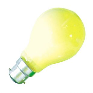 25W Coloured GLS Bulb - Bayonet - Yellow