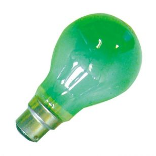 25W Coloured GLS Bulb - Bayonet - Green