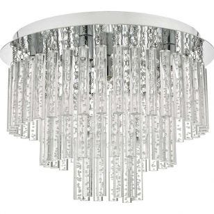 Dar Paulita Flush Ceiling Light - Chrome