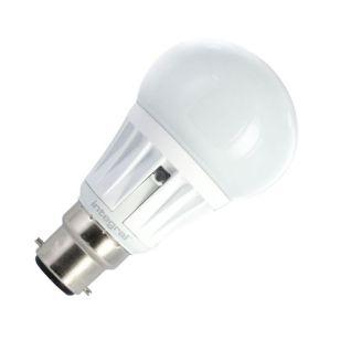 Integral 5.5W Warm White LED Opal GLS Bulb with Dusk to Dawn Sensor - Bayonet Cap