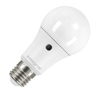 Integral 5.5W Warm White LED Opal GLS Bulb with Dusk to Dawn Sensor - Screw Cap
