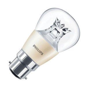 Philips 6W Warm White DimTone LED Golf Ball Bulb - Bayonet Cap