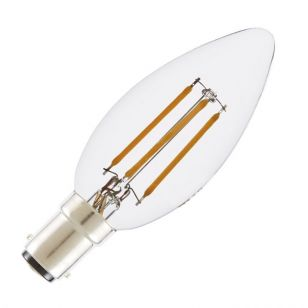 Tagra 4W Warm White Dimmable LED Decorative Filament Candle Bulb - Small Bayonet Cap