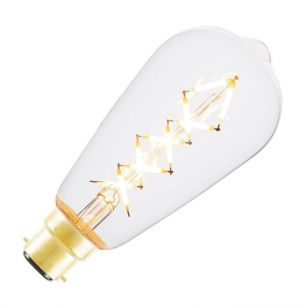 Tagra 5W Very Warm White Dimmable LED Decorative Filament Squirrel Cage Bulb - Bayonet Cap