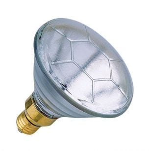 80W PAR 38 Clear Reflector - Screw