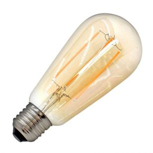 Tagra 4W Very Warm White Dimmable LED Decorative Filament Squirrel Cage Bulb - Screw Cap
