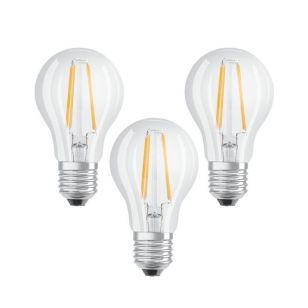 Osram 7W Warm White LED Decorative Filament GLS Bulb - Screw Cap - Pack of 3