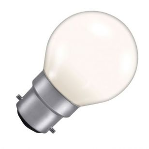 15W Coloured Golf Ball Bulb - Bayonet Cap - White