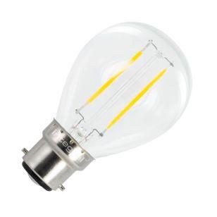 Integral 2W Warm White LED Decorative Filament Golf Ball Bulb - Bayonet Cap