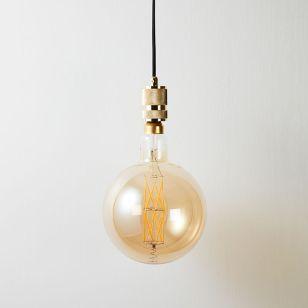 Eglo 8W Very Warm White LED Decorative Filament 200mm Globe Bulb - Screw Cap