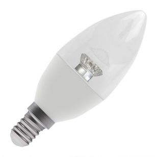 Bell 4W Warm White LED Clear Candle Bulb - Small Screw Cap