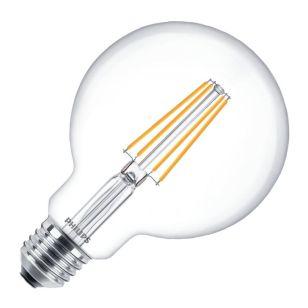 Philips Classic 8W Warm White Dimmable LED Decorative Filament 95mm Globe Bulb - Screw Cap