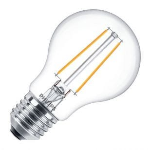 Philips Classic 5.5W Warm White Dimmable LED Decorative Filament GLS Bulb - Screw Cap
