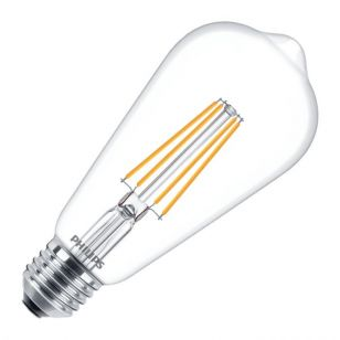 Philips Classic 8W Warm White Dimmable LED Decorative Filament Squirrel Cage Bulb - Screw Cap