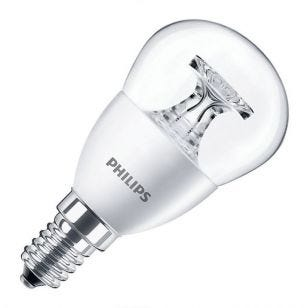 Philips Corepro 5.5W Warm White LED Golf Ball Bulb - Small Screw Cap