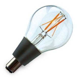 Techmar 4W Very Warm White LED Low Voltage Decorative Filament GLS Bulb - Small Bayonet Cap