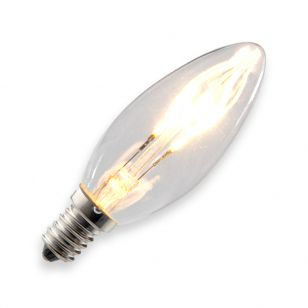 Tagra 3W Warm White Dimmable LED Curved Decorative Filament Candle Bulb - Small Screw Cap