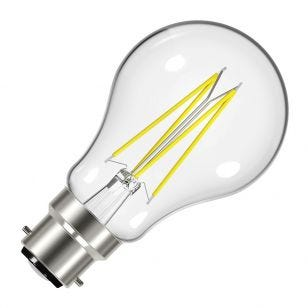 Value 7.2W Warm White Dimmable LED Decorative Filament GLS Bulb - Bayonet Cap