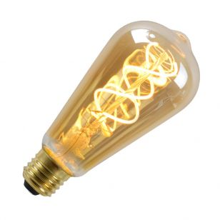5W Very Warm White Dimmable LED Decorative Filament Squirrel Cage Bulb - Screw Cap
