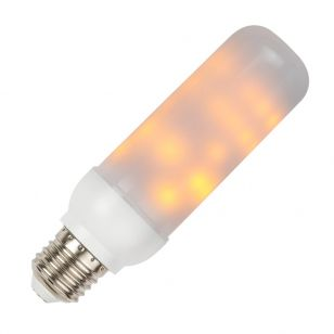 3W Very Warm White LED Decorative Flicker Flame Effect Bulb - Screw Cap