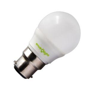 Envirolight 5W Warm White Dimmable LED Golfball Bulb - Bayonet Cap