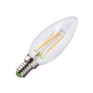 Envirolight 4W Warm White LED Decorative Filament Candle Bulb - Small Screw Cap