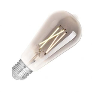 WiZ 6.5W White Changing Dimmable LED Decorative Filament Smart WiFi Smoky Squirrel Cage Bulb - Screw Cap