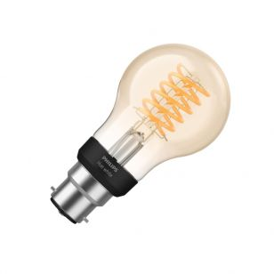 Philips Hue 7W Very Warm White LED Dimmable Bluetooth Decorative Filament GLS Bulb - Bayonet Cap