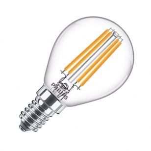 Philips LED Classic 6.5W Warm White Dimmable Decorative Filament Golfball Bulb - Small Screw Cap