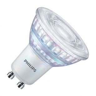 Philips MasterValue 6.2W Warm White Dimmable LED GU10 Bulb - 120 ° Beam